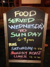 Angarrack Inn - Food served Wednesday to Sunday 6-9pm